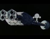 Discovery zawieszony między gwiazdami