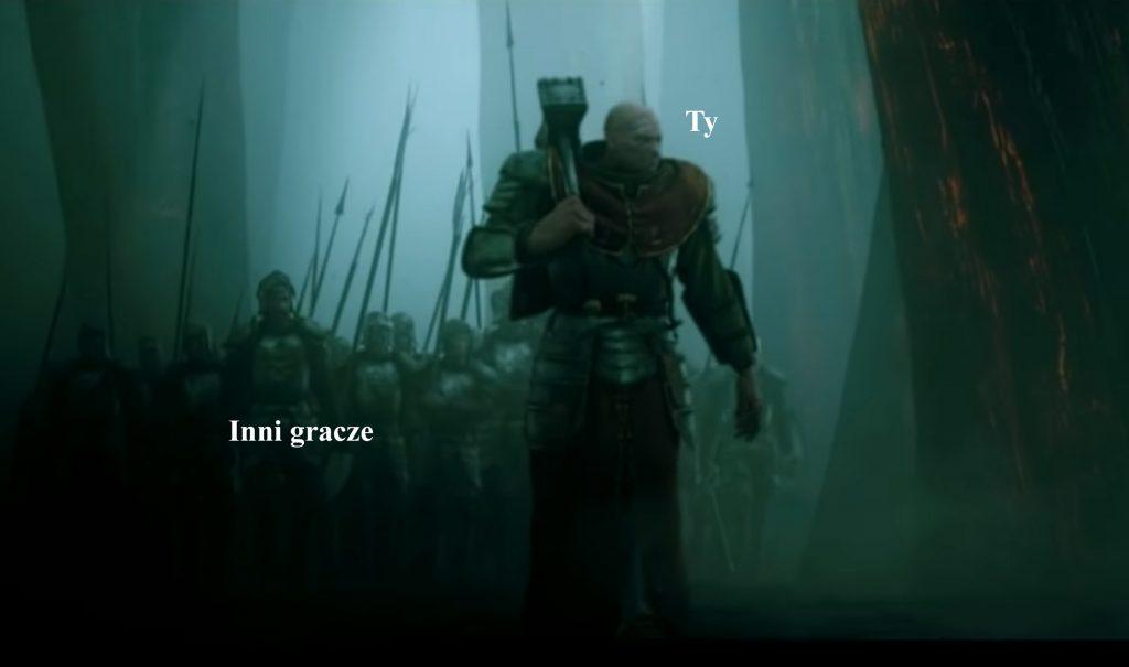 Kapłan Sigmara na tle żołnierzy